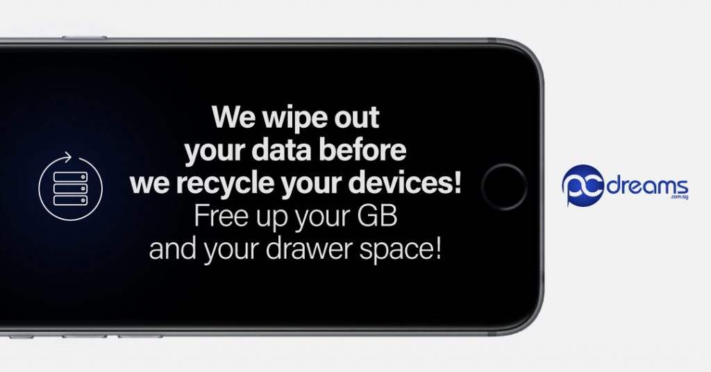 We wipe out your data before we recycle your device